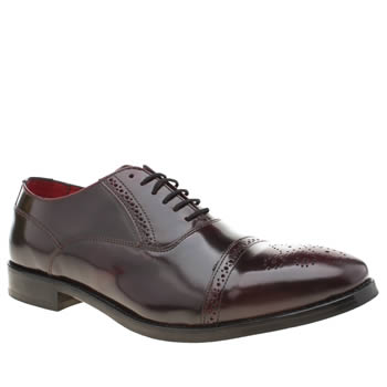 Base London Burgundy Noel Mens Shoes