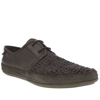Mens Base London Dark Brown Festival Lace Shoes