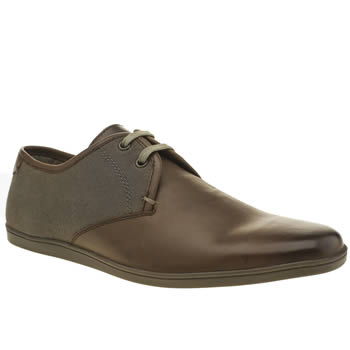 Base London Brown & Grey Coast Gibson Shoes