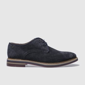 Base London Navy Artist Derby Mens Shoes