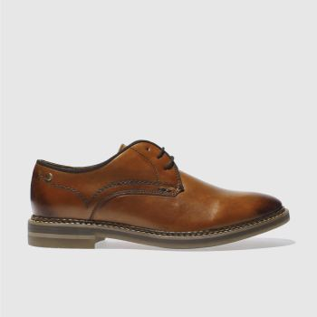 Base London Tan Artist Derby Shoes