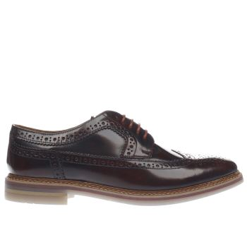 Base London Burgundy Artist Brogue Shoes