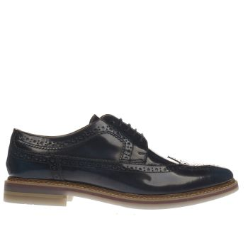 Base London Navy Artist Brogue Shoes