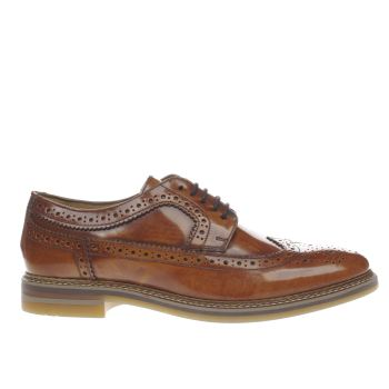 Base London Tan Artist Brogue Shoes