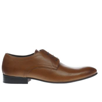 Base London Tan Entrepreneur Perf Gibson Mens Shoes