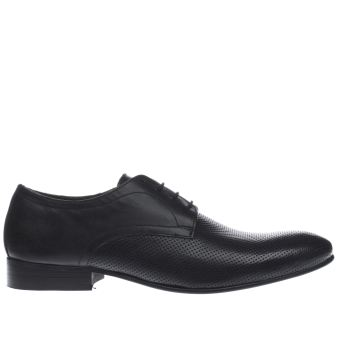 Base London Black Entrepreneur Perf Gibson Mens Shoes