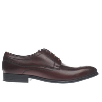 Base London Burgundy Idol Tramline Mens Shoes