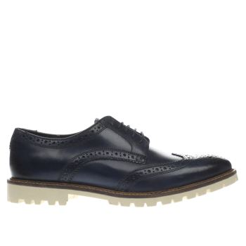 Base London Navy Battle Brogue Mens Shoes