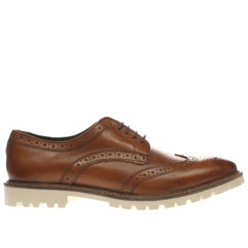 Base London Tan Battle Brogue Mens Shoes