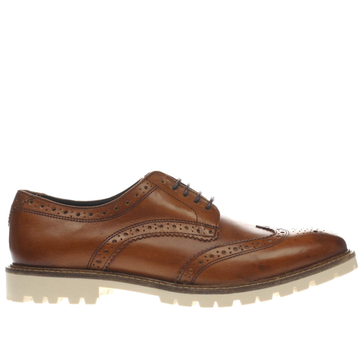 base london tan battle brogue shoes
