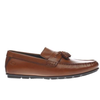Base London Tan Cartel Tassel Mens Shoes
