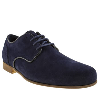 Mens Momentum Navy Brogue Gibson Shoes