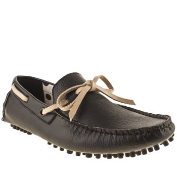 Mens Momentum Black Boat Driver Shoes
