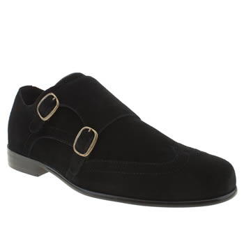 mens momentum black esquire monk wing shoes