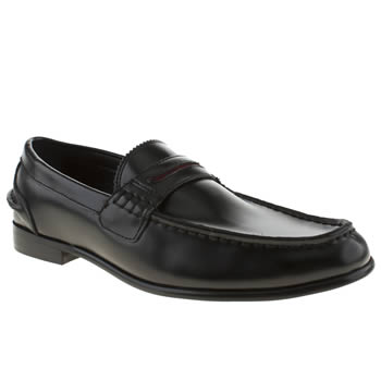 mens momentum black esquire penny loafer shoes
