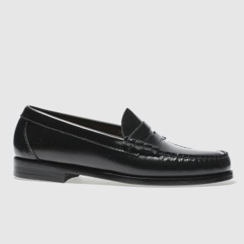 Bass Black Larson Moccasin Penny Mens Shoes