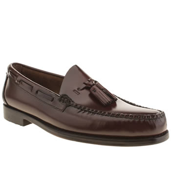Bass Burgundy Larkin Moccasin Tassel Mens Shoes