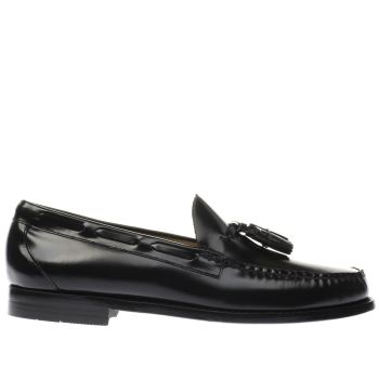 Mens Bass Black Larkin Moccasin Tassle Shoes