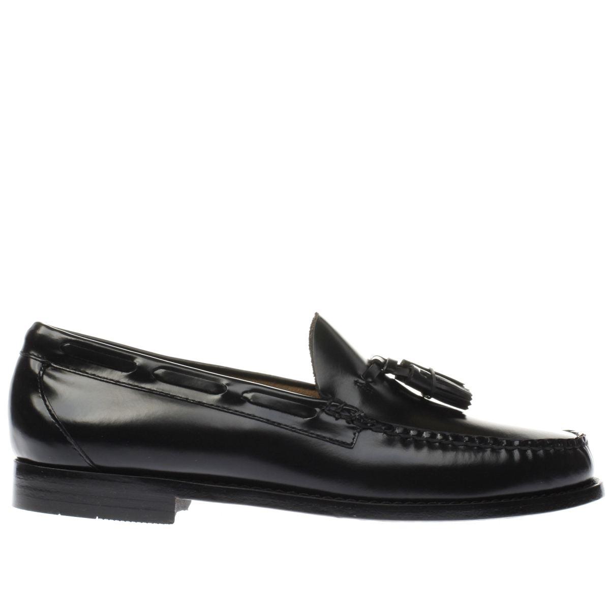 bass black larkin moccasin tassle shoes