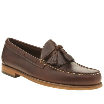 Mens Bass Dark Brown Layton Pull Up Kiltie Shoes