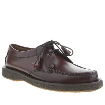 Mens Bass Burgundy Crepe Tie Shoes