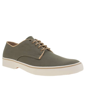 Mens Bass Dark Green Scholar Stanford Derby Shoes