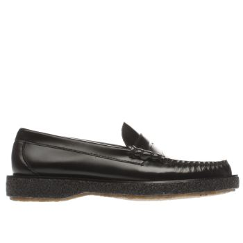 Bass Black Larson Moc Penny Crepe Shoes