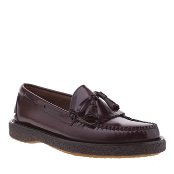 Bass Burgundy Layton Moc Kiltie Crepe Shoes
