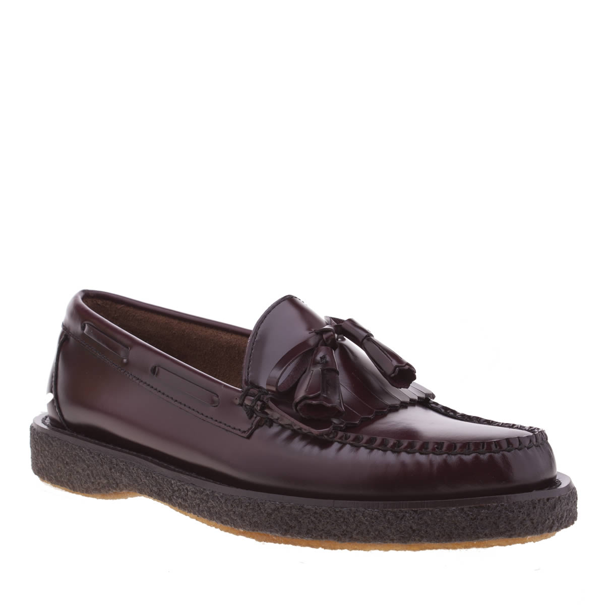 bass Bass Burgundy Layton Moc Kiltie Crepe Shoes