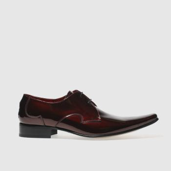 Mens Jeffery West Burgundy Pino Plain Vamp Shoes