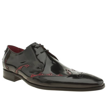 Mens Jeffery West Black & Red Scarface Flash Shoes