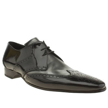 Jeffery West Black & Silver Escobar Saddle Brogue Shoes