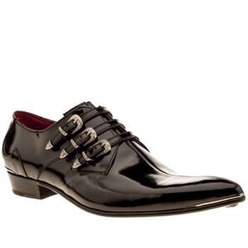 Mens Jeffery West Black Adamant Monk Shoes