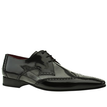 mens jeffery west black & silver escobar brogue shoes