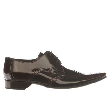 Mens Jeffery West Brown Black Brogue Shoes