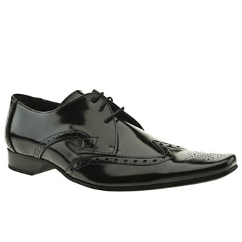 mens jeffery west black brogue shoes