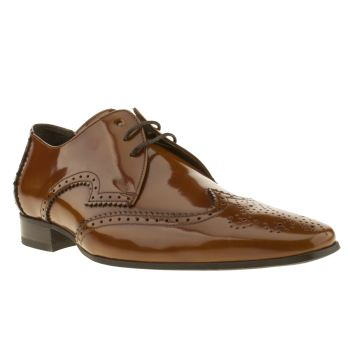 Jeffery West Tan Escobar Wing Gibson Shoes