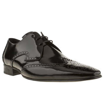 Mens Jeffery West Black Escobar Wing Gibson Shoes