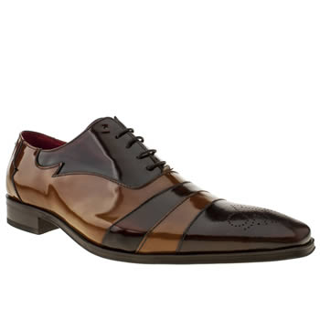 Mens Jeffery West Brown Scarface Panel Shoes