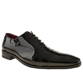 Mens Jeffery West Black Scarface Panel Oxford Shoes