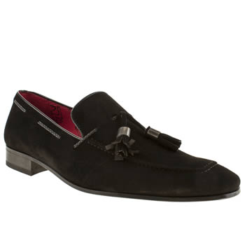 mens jeffery west black jung tassel loafer shoes