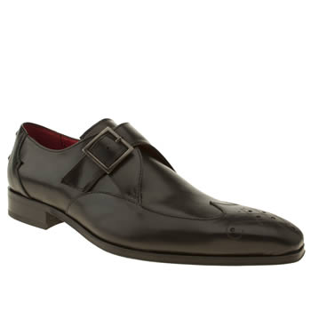 mens jeffery west black capone monk shoes