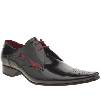 Mens Jeffery West Navy & Red Pino Flash Shoes