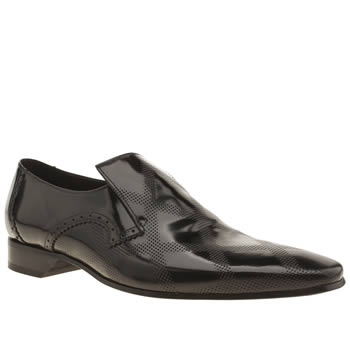 Mens Jeffery West Black Square Punch Shoes