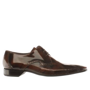 Jeffery West Brown Square Weave Mens Shoes