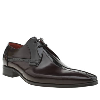 Jeffery West Burgundy Escobar Centre Punch Shoes
