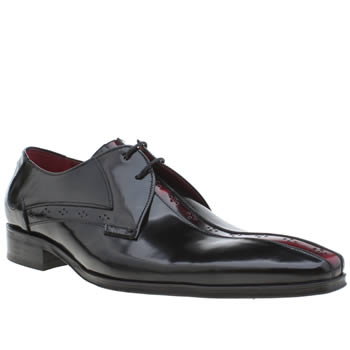 Jeffery West Black & Red Escobar Centre Punch Mens Shoes
