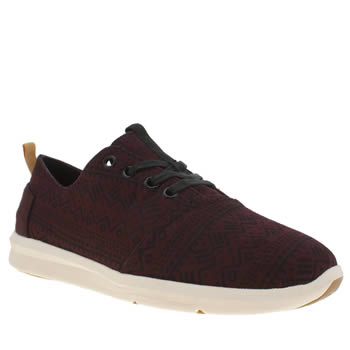 Mens Toms Burgundy Viaje Sneaker Shoes