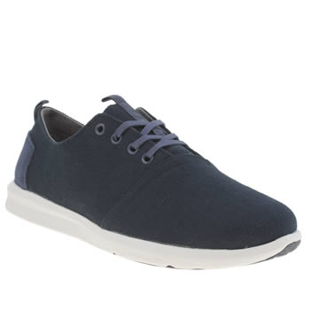 Mens Toms Navy & White Del Rey Sneaker Shoes