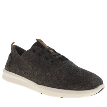 Mens Toms Black & Grey Viaje Sneaker Trainers